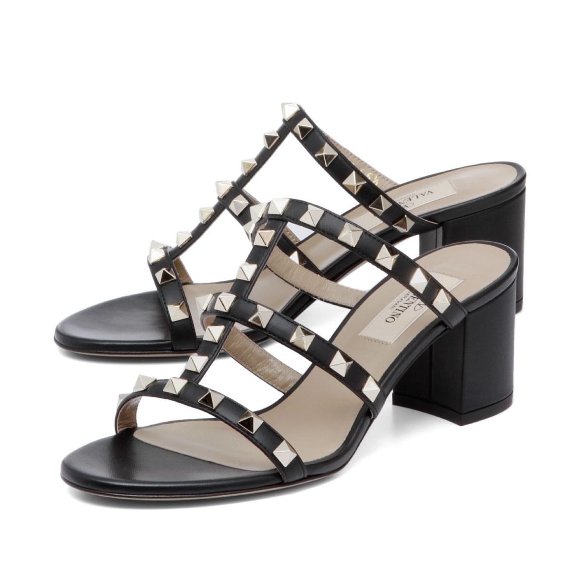 c5b84fe99dc importshopdouble: Valentino VALENTINO shoes Lady's RW2S0C47 VOD 0NO sandals  ROCKSTUD lock stud bolt NERO/NER black | Rakuten Global Market