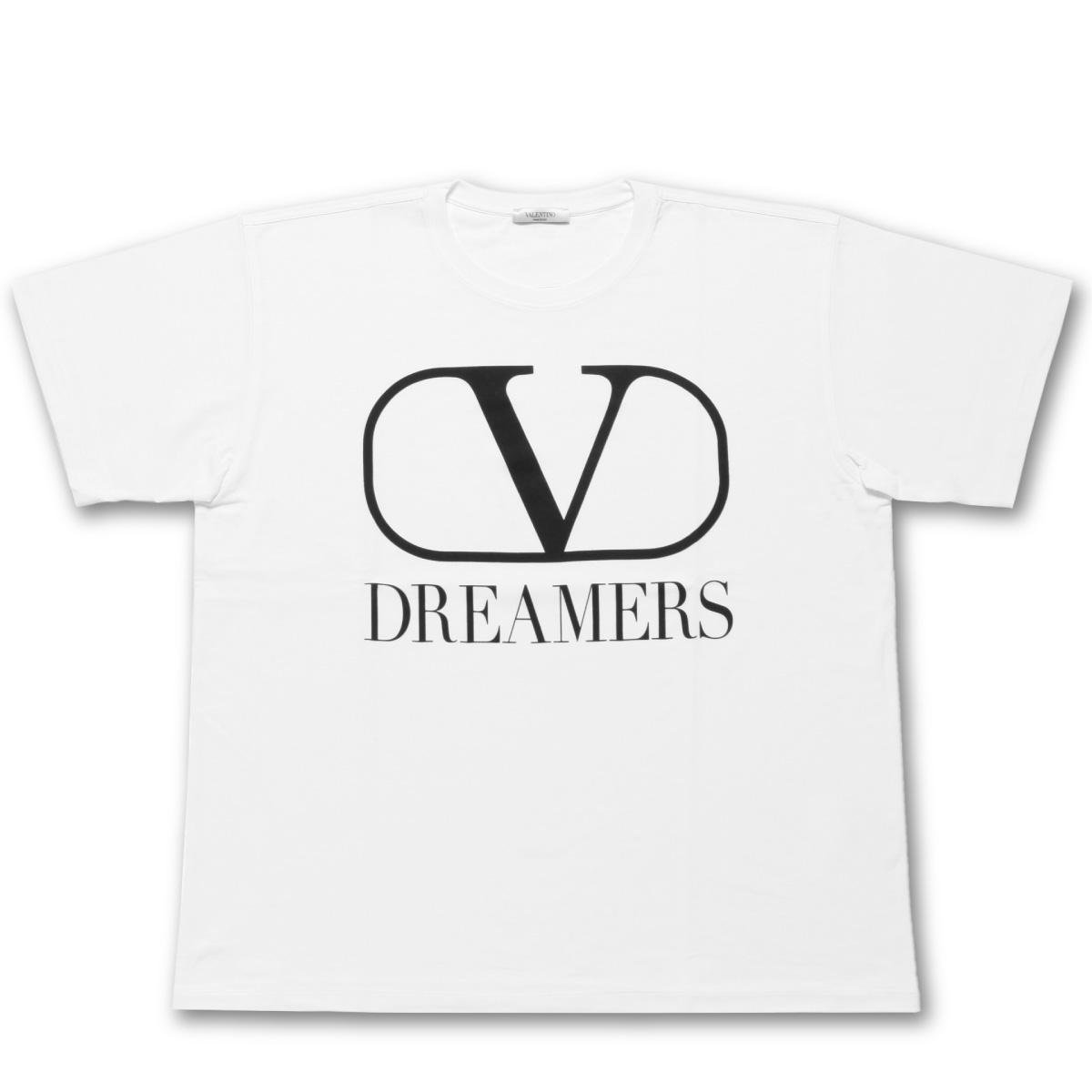 ヴァレンティノ VALENTINO Tシャツ メンズ TV0MG06B681 A01 半袖Tシャツ BIANCO/NERO ホワイト