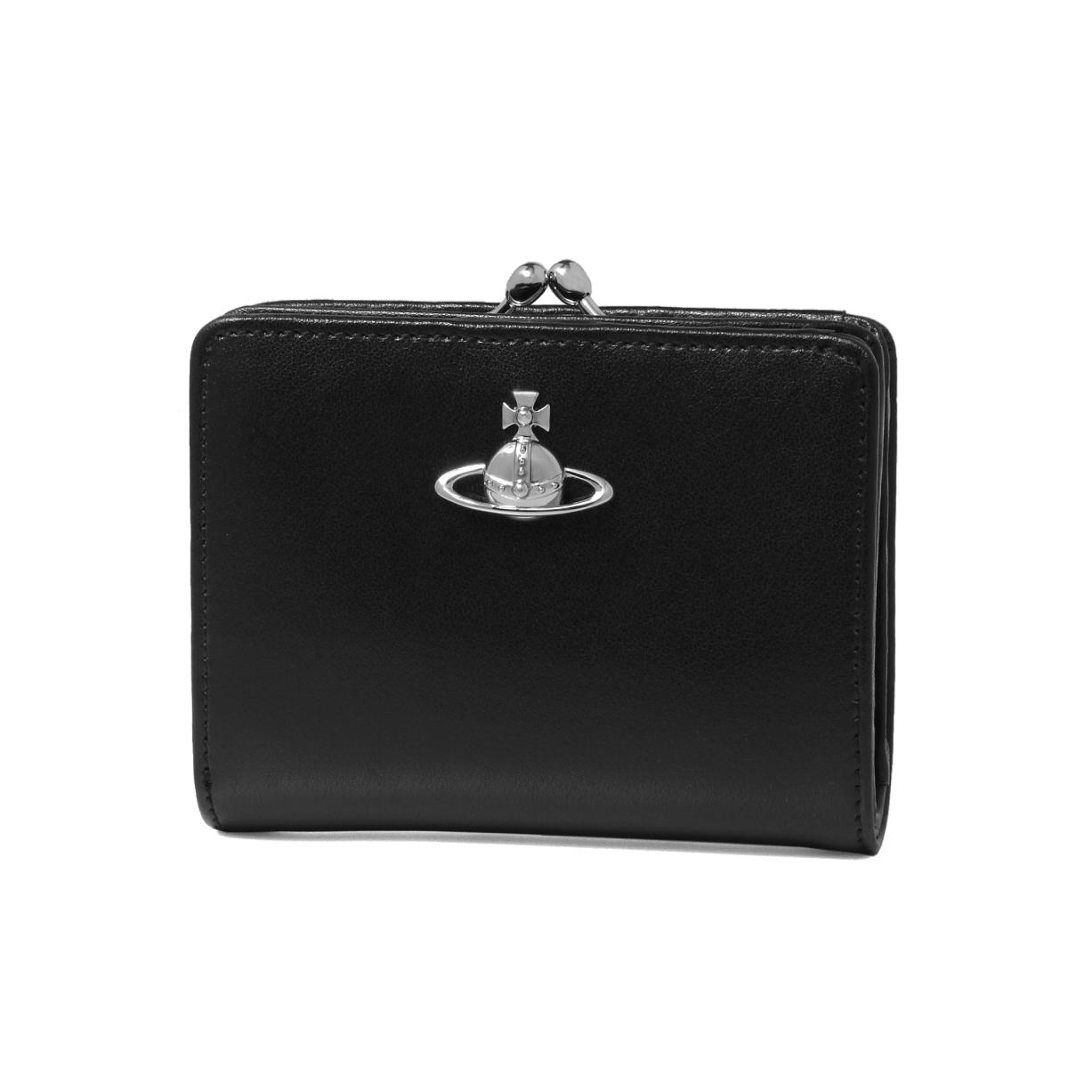 ヴィヴィアン ウエストウッド VIVIENNE WESTWOOD 財布 レディース 51010020 40525 N401 二つ折り財布 MATILDA マチルダ BLACK ブラック