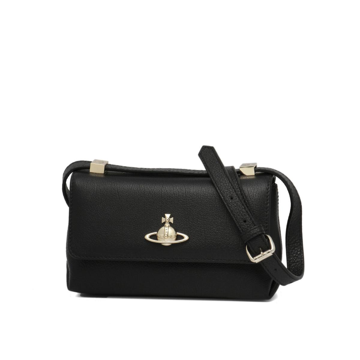 43030038 Vivien Waist Wood Vivienne Westwood Bag Lady 40212 N402 Shoulder Small Balm Black