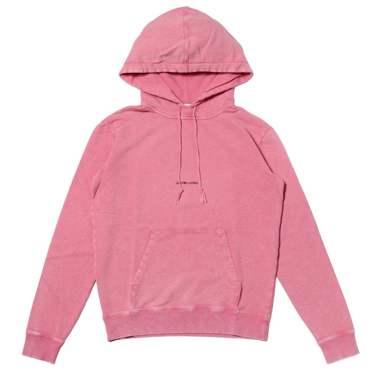 サン ローラン SAINT LAURENT パーカー メンズ 557555 YB2YE 6469 フード付 長袖パーカー PINK ピンク