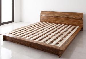 モダンデザインステージタイプフロアベッド J-Zee ジェイ・ジー ベッドフレームのみ クイーン(Q×1)マットレス付 マットレス込み クィーンサイズ マットレス ダブル ベッドフレーム フロアベッド ベット 低床ベッド