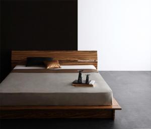 モダンデザインステージタイプフロアベッド J-Zee ジェイ・ジー ボンネルコイルマットレスハード付き クイーン(Q×1)マットレス付 マットレス込み クィーンサイズ マットレス ダブル ベッドフレーム フロアベッド ベット 低床ベッド