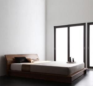 モダンデザインステージタイプフロアベッド J-Zee ジェイ・ジー 国産ポケットコイルマットレス付き ダブルマットレス付 マットレス込み ダブルベッド マットレス ダブル ベッドフレーム フロアベッド ベット 低床ベッド