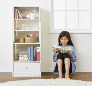 長~く使える・高さ調節ができるキッズラック 4-Step フォーステップ ブックラック ホワイトキッズ家具 キッズ収納 子供用家具 シンプルデザイン kids キッズ 収納家具 整理 棚 ラック