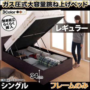 お客様組立 搬入楽々棚コンセント跳ね上げベッド Free-Gate フリーゲート ベッドフレームのみ 縦開き シングル 深さレギュラー