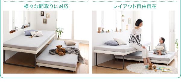 簡易ベッド 親子ベッド Bene&Chic ベーネ&チック 薄型軽量ボンネルコイルマットレス付き 上下段セット シングル 上段と下段のペアタイプ シングルベッド シングル シングルサイズ マットレス付 マットレス有り
