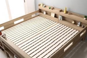 ファミリーベッド 将来分割可能 2段ベッド対応 分割可能ベッド 木製 ワイドキングサイズベッド Whentass ウェンタス ベッドフレームのみ フルガード ワイドK200※フルガードタイプ(サイドガード4本タイプ) マットレス無 マットレス別売り 大型