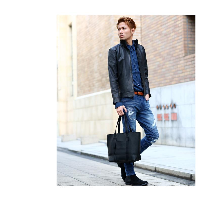 a716a8922c6fb9 バッグ 【送料無料】 メンズバッグ improves 革 BAG フェイクレザートートバッグ 小物 通勤
