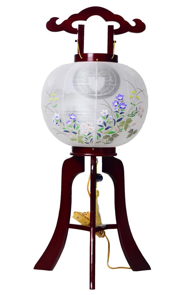 家紋提灯 盆提灯 ゆかり ワイン 10号 家紋入 家紋入れ料金込み