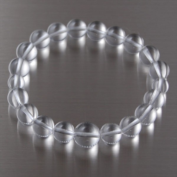 This Crystal Bracelet 8 mm beads small eye size