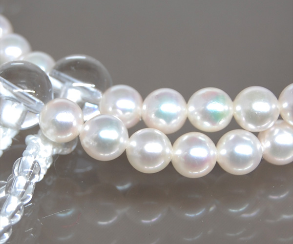 Rosary for women this Pearl motorcycle white silk head Chamber 02P28oct13