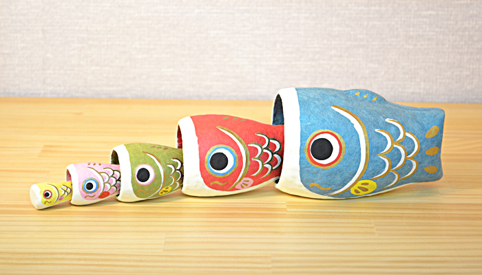 Doll for the Boy's Festival carp streamer matryoshka doll はりこー deer Japanese paper Children's Day compact