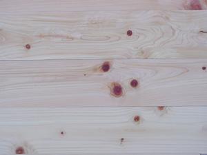 天竜桧無垢フローリング節あり 無塗装 15ミリ厚3900×15×110ミリ 7枚入