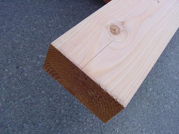 米松(ベイマツ)無垢平角3000×120×390ミリ