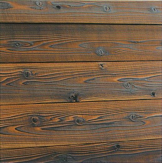 【メーカー取り寄せ品】焼き杉外壁用無垢板 節あり 水性ナチュラル(メープル)2970×11×150ミリ 11枚入(約1.5坪入)