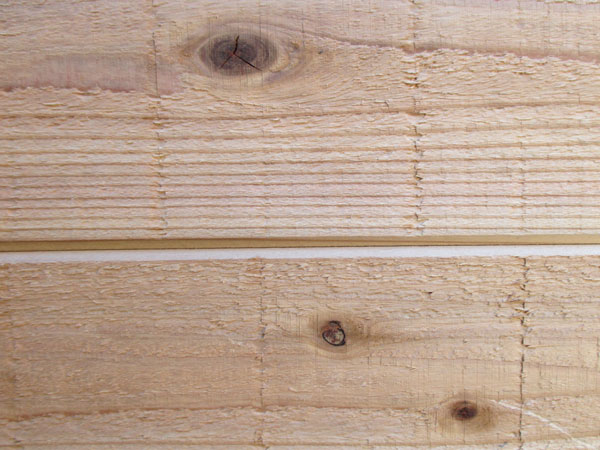 1枚物 本実目透し 無塗装 羽目板 無垢 節有源平 秋田杉 長さ3640×巾105ミリ