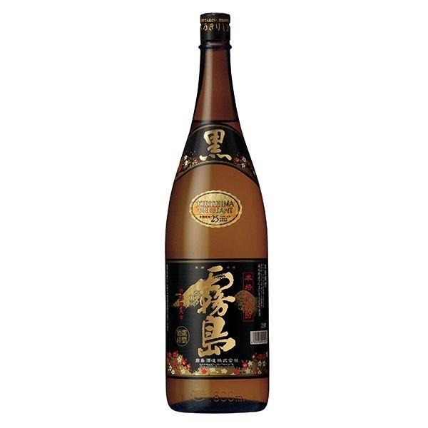 送料無料 霧島酒造 芋焼酎 最安値 黒霧島 瓶1.8L 6本 25° 瓶 定価