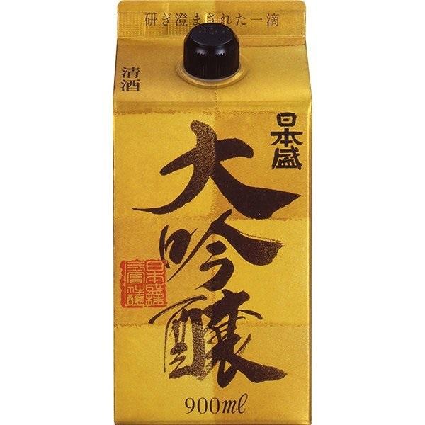 配送員設置送料無料 送料無料 日本盛 大吟醸 高級 パック 900ml×6本
