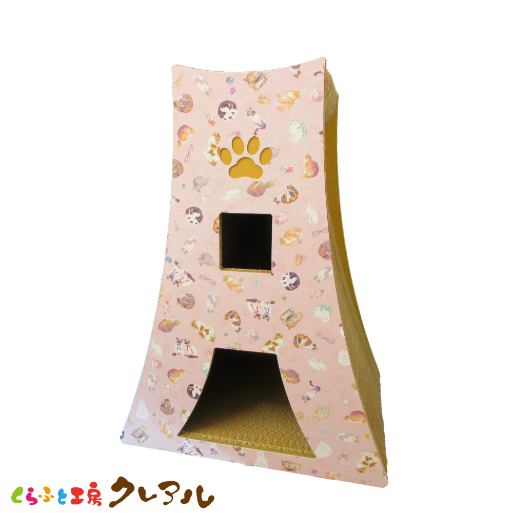 富士山が爪とぎになったよ 頂上に上っちゃおう 送料無料 猫のつめとぎ 富士にゃん キャットワールド柄 日本製 猫 爪磨き 遊び 訳あり ストア 爪とぎ トンネル 段ボール 爪みがき つめとぎ 猫用品