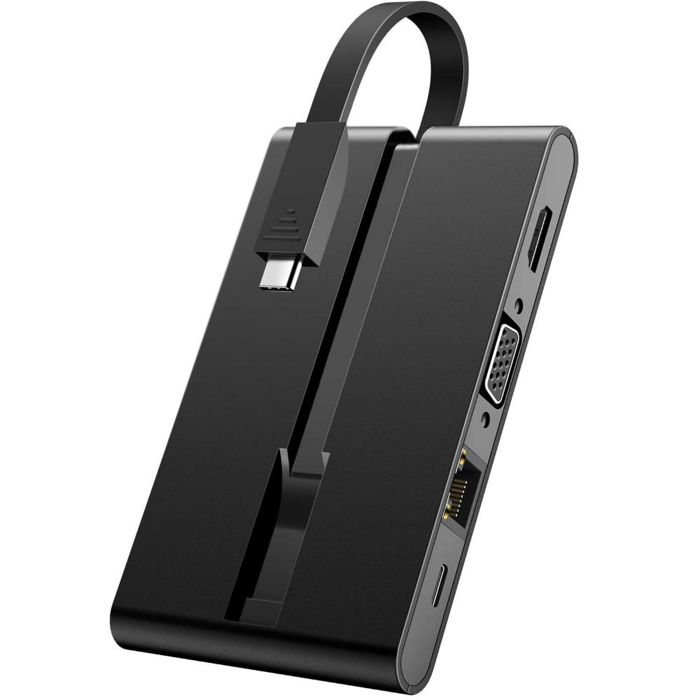 【全品全国送料無料】Inateck 9in1 USB タイプC ドッキングステーション ハブ、PD Type C ポート、4K HDMI、VGA、RJ45ギガビットイーサネットポート、Micro SD/SDカードリーダー付き MacBookおよび他のタイプCラップトップ用