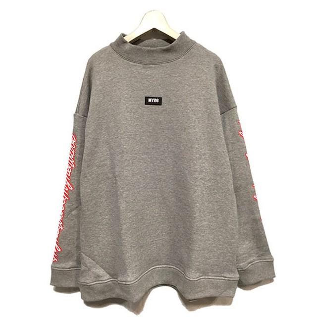【セール30%OFF】 【2019SS新作の袖ロゴスウェット】MYne マイン / MYne wave pullover (gray) [MYne-G02PO152]