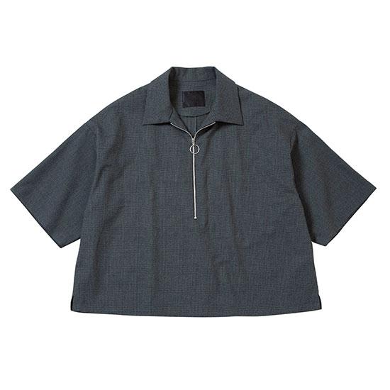 【セール40%OFF】 【ハーフジップシャツ】bukht ブフト / HALF ZIP PULLOVER SHIRTS (WHT×BLK) [bukht-BV-62204]