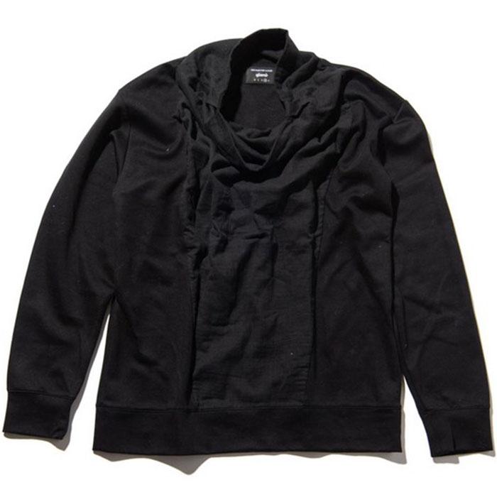 【切り返しがポイントのハイネックカットソー】glamb グラム / Torrance drape CS (black) [glamb-GB0418-CS07]