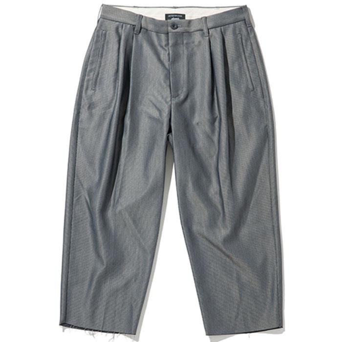 【ワイドパンツ】glamb グラム / Cox cropped slacks (gray) [glamb-GB0218-P16]