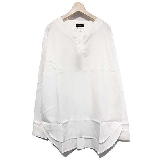 【ラス シャツ】 l.o.s ラス No collar pullover shirts white lossh01