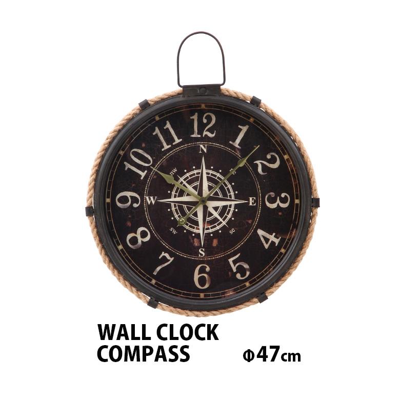 掛け時計 ブランド品 壁掛け おしゃれ アンティーク メーカー再生品 ヴィンテージ 大きい コンパス 送料無料_a 壁掛け時計 スチール 木 壁かけ時計 北欧 47cm かけ時計 時計 壁掛時計 ウォールクロック