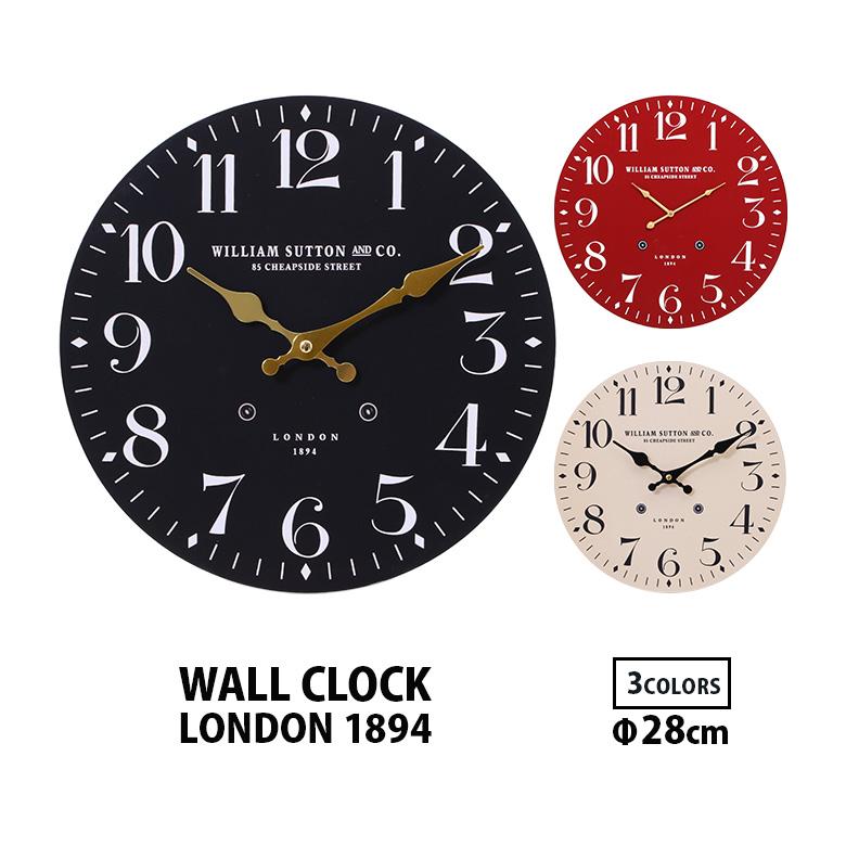 掛け時計 本日の目玉 おしゃれ シンプル レトロ インテリア ヴィンテージ 送料無料_a 壁掛け時計 時計 28cm ウォールクロック 北欧 壁かけ時計 直径 壁掛時計 MDF 木製 クリアランスsale 期間限定 壁掛け