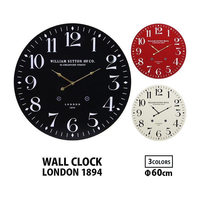 掛け時計 <セール&特集> おしゃれ シンプル レトロ インテリア ヴィンテージ 大きい 送料無料b ウォールクロック LONDON1894 2020 新作