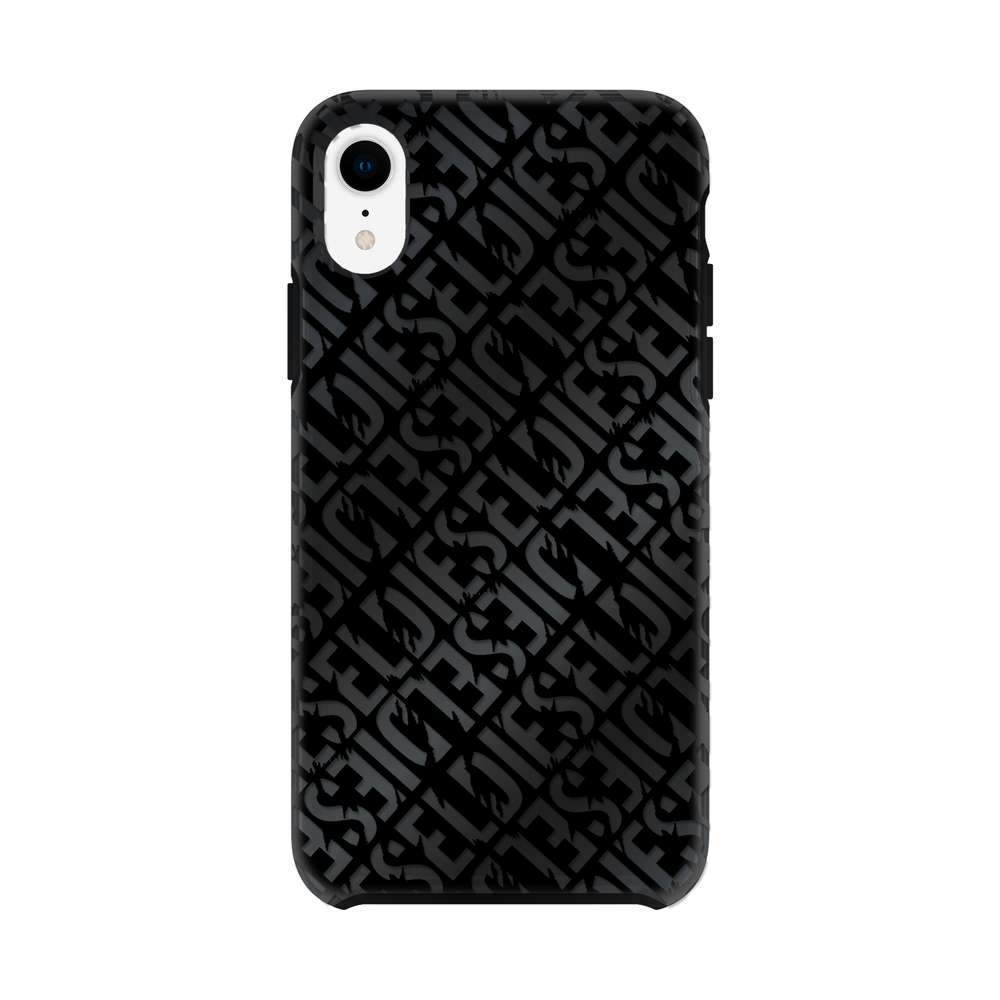 DIESEL ディーゼル Printed Co-Mold Distressed Logo Pattern Case for iPhone XR