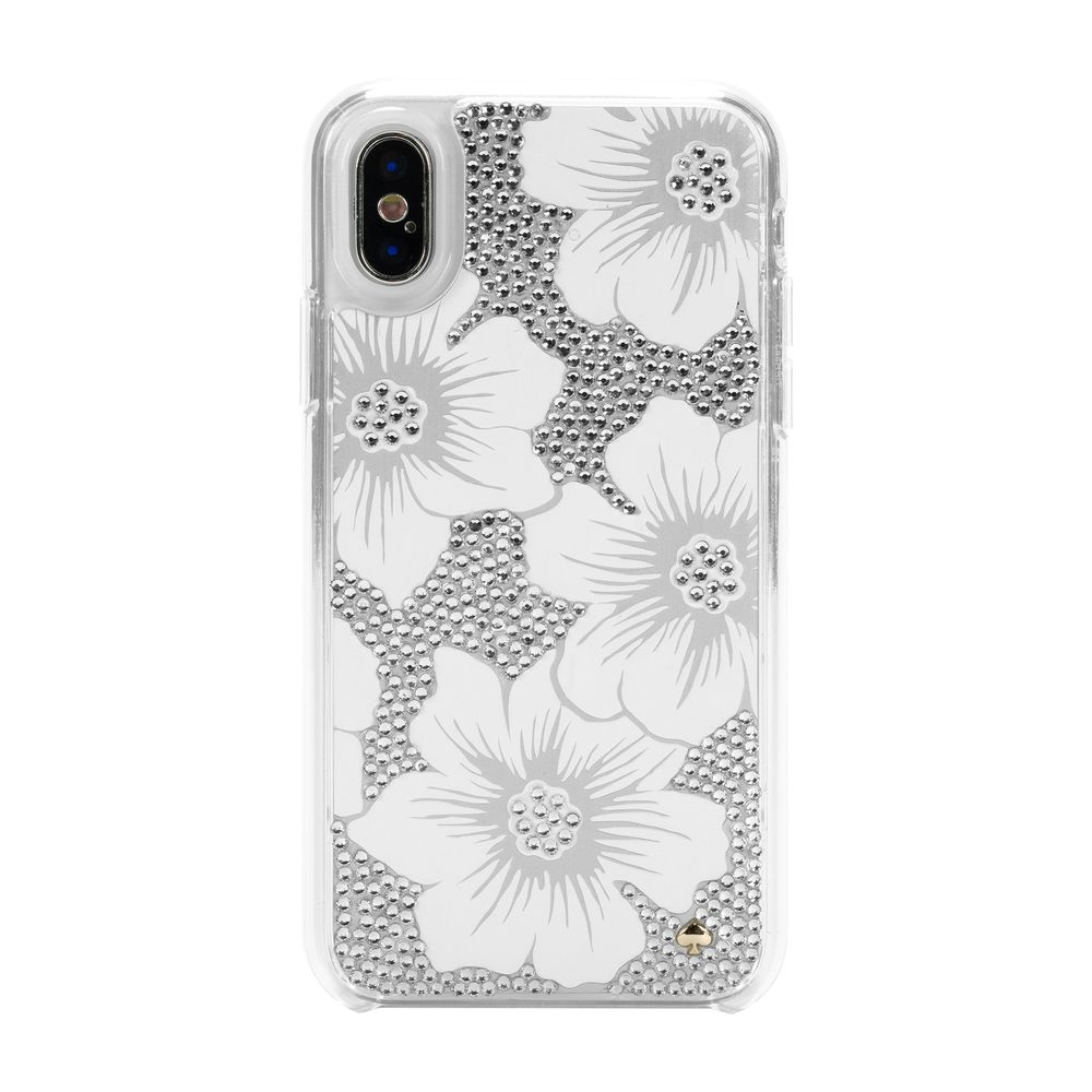 kate spade new york ケイトスペード Full Clear Crystal Case for iPhone XS/X