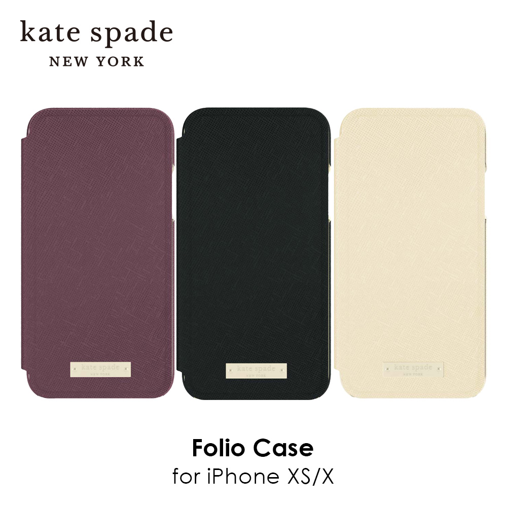 kate spade new york ケイトスペード Folio Case for iPhone XS/X