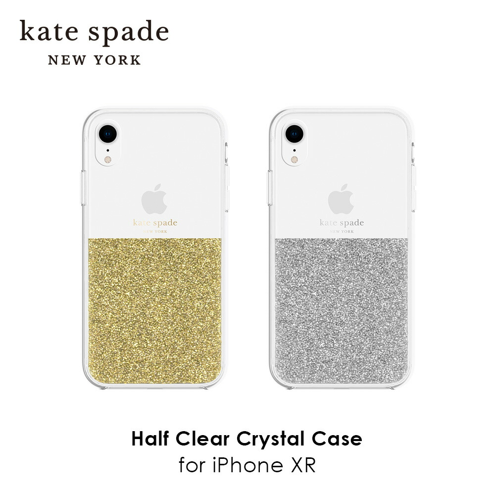 kate spade new york ケイトスペード Half Clear Crystal Case for iPhone XR