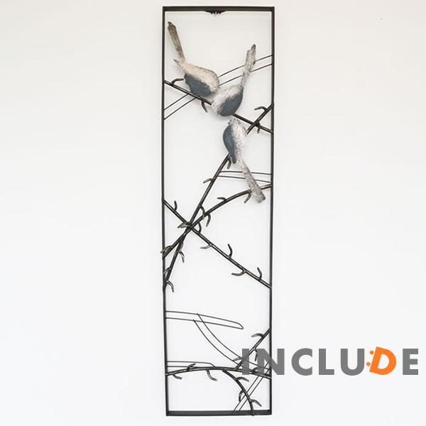 アイアンウォールアートパネル アートパネル ウォールアート リーフパネル 鳥 小鳥 さえずり 壁掛け 壁飾り フラワー アイアン モダンテイスト リーフ 植物 アートフレーム レトロ アンティーク インテリア リビング 玄関 アイアンの壁飾り モンステラ デリシオサ