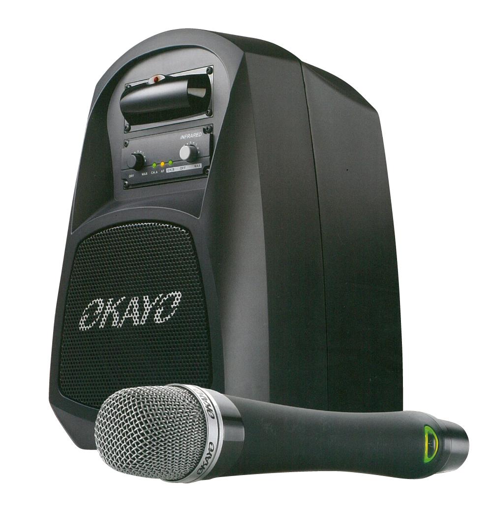 赤外線マイク2本&スピーカーセット 教室、会議室に 混信なしの持ち運べるセットGPA-500IR2