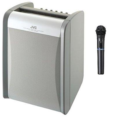 【PE-W51S-M 後継機】JVCケンウッド ポータブルワイヤレスアンプ PE-W51SB-M (シングルチューナー+ワイヤレスマイク1本同梱)