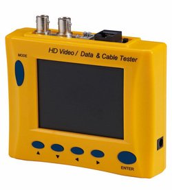 防犯カメラ 現場モニター AHD/TVI/CVI/アナログ(CVBS)カメラ対応 3.5インチカラー液晶モニター搭載 DA-AU35MACT