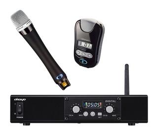 観光バス用 2.4GHz帯 デジタルワイヤレスマイクロホンシステム レシーバー1台+ハンド型マイク 1本+ペンダント型1本セット EJ-600DR-HT