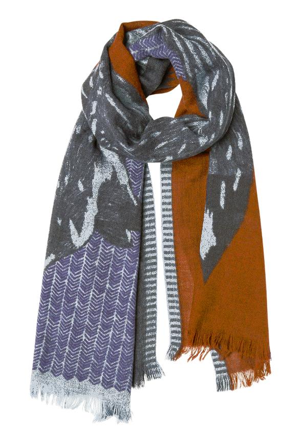 Inouitoosh イヌイトゥーシュ ストール 永遠の定番モデル スカーフ Foxy scarf - Burgundy 大判 秀逸 190cm×70cm フランス ユニセックス メンズ 大判ストールウール テラコッタ おまけバッグ付
