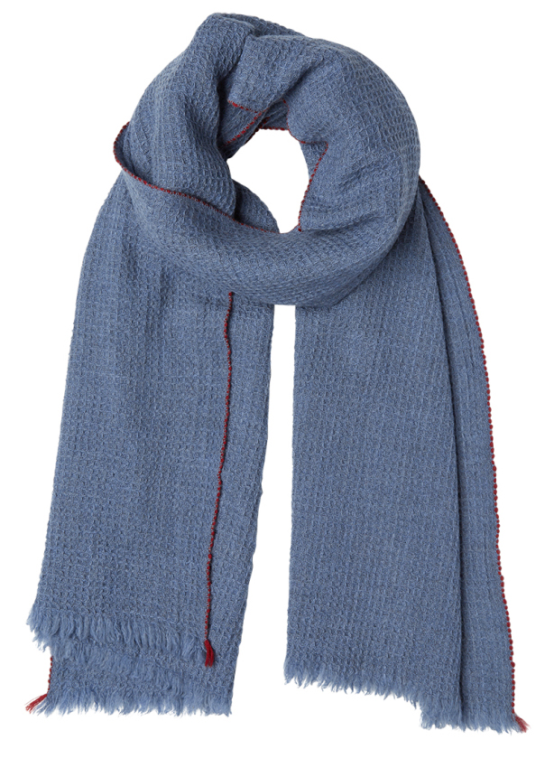 Inouitoosh イヌイトゥーシュ 送料0円 ストール 新作販売 スカーフ etole - cocon bleu フランス おまけバッグ付 大判 メンズ ユニセックス 190cm×70cm ブルー 大判ストールウール
