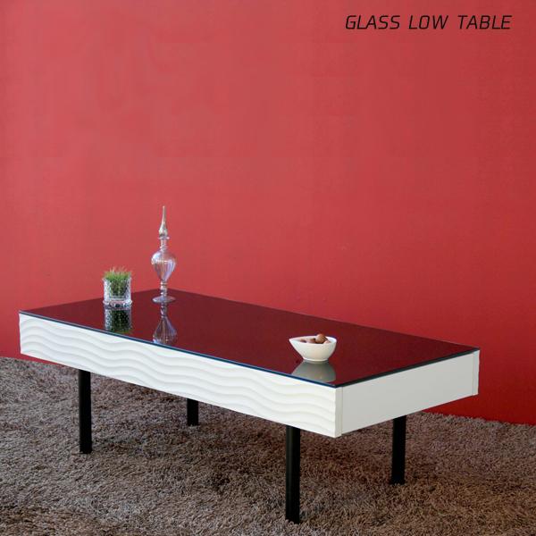 ガラステーブル 105 完成品 おしゃれ ローテーブル リビングテーブル センターテーブル シンプル 北欧 モダン リビング収納家具 日本製 引き出し付