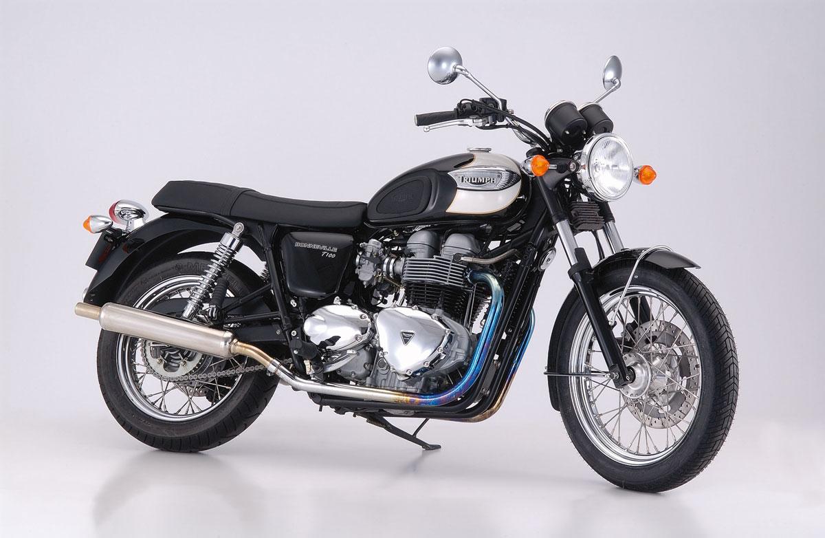 【Triumph/トライアンフ】 BONNEVILLE T100 ボンネビルT100用マフラー(スリップオン) メガフォン BMS