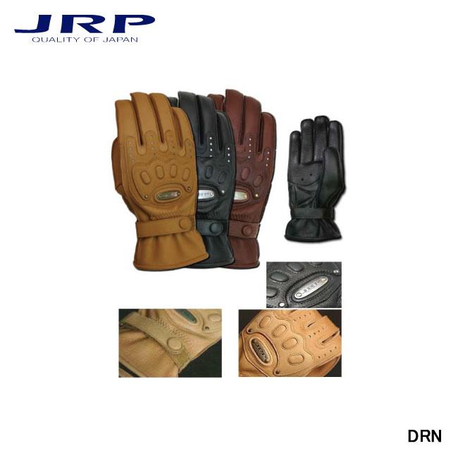 【JRP/ジェイ・アール・ピー】バイク用グローブ DRN レザー 手袋