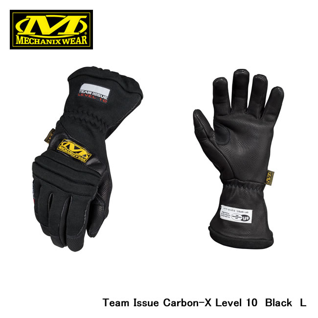 【MECHANIX WEAR/メカニックスウェア】 Team Issue Carbon-X Level 10 Black L 品番:cxg-l10-010