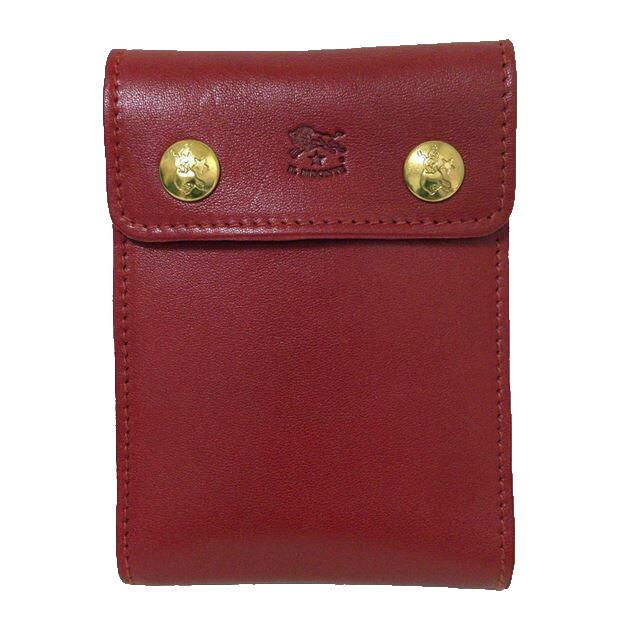 【並行輸入品】[イルビゾンテ]C0921-P-245 Ruby Red メンズ / 二つ折り財布 ルビーレッド 【IL BISONTE】(あす楽)
