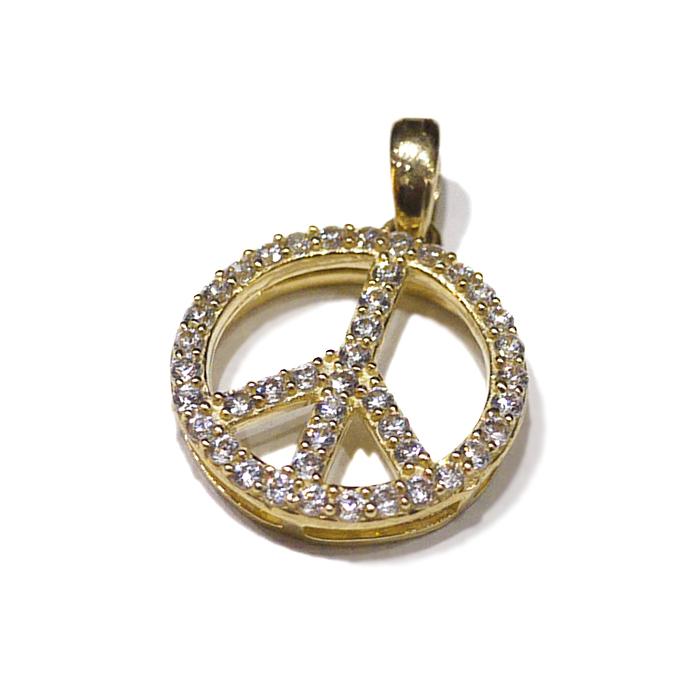 【送料無料】LAX JEWELRY 10K PEACE CHARM【YELLOW GOLD】(ジュエリー アクセサリー ネックレス ペンダント ヘッド チャーム ゴールド 10金 ピース)